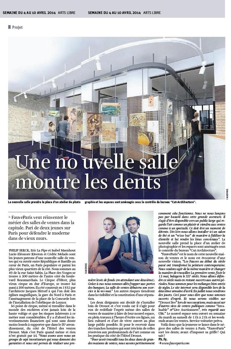 Une nouvelle salle montre les dents dans la libre belgique fauv - Vente viager libre belgique ...