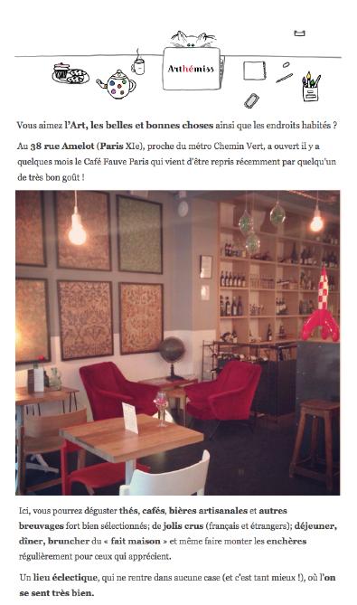 Cafe Fauve Rue Amelot