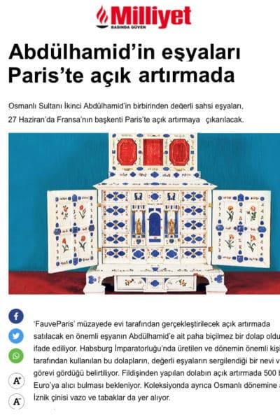 Notre cabinet d'Augsburg dans Milliyet, quotidien national turc