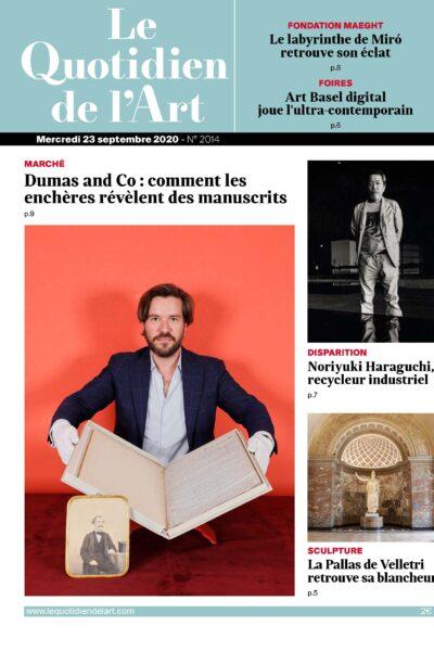 «Dumas and Co : comment les enchères révèlent des manuscrits», FauveParis en Une du Quotidien de l'art