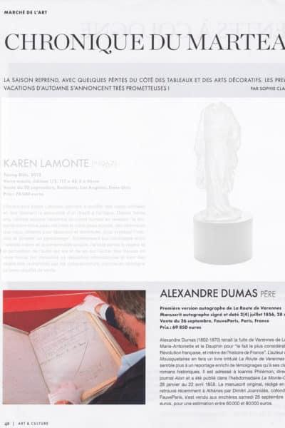 Manuscrit Dumas dans l'Éventail
